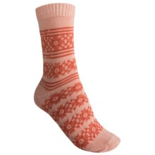 b.ella Shannon Crew Socks - Pool Tile Stripe (For Women) in Peach - Closeouts