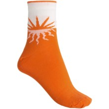 b.ella Sunny Setting Sun Socks - Quarter-Crew (For Women) in Orange - Closeouts