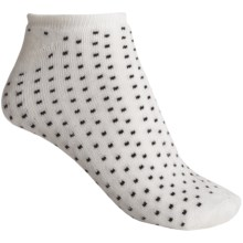 b.ella Suzie Pindot Model No-Show Socks - Below-the-Ankle (For Women) in Caviar - Closeouts