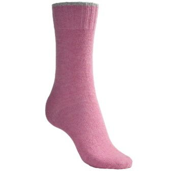 b.ella Tipped Socks - Wool Blend, Crew (For Women) in Pink/Light Grey