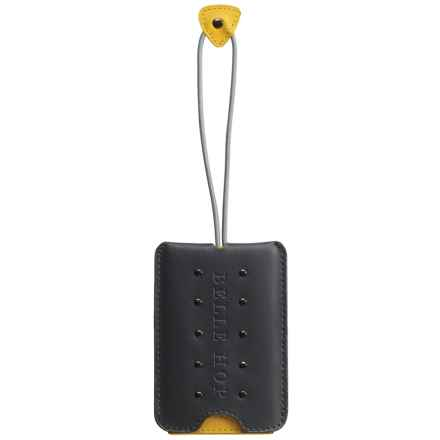 Belle Hop Studded Luggage Tag in Charcoal - Closeouts