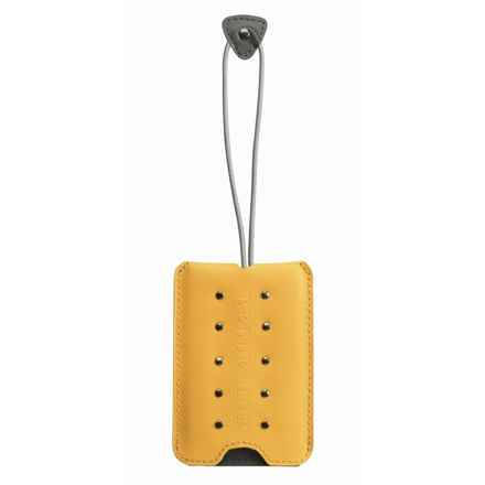 Belle Hop Studded Luggage Tag in Mustard - Closeouts