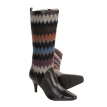 Bellini Callan Tall Boots - Sweater-Knit, Leather (For Women) in Black - Closeouts