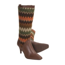 Bellini Callan Tall Boots - Sweater-Knit, Leather (For Women) in Brown - Closeouts