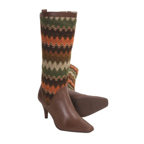Bellini Callan Tall Boots - Sweater-Knit, Leather (For Women) in Brown
