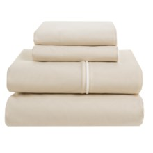 Bellora Corvina Cotton Percale Sheet Set - Queen, 300 TC, Italian Made in Taupe - Closeouts