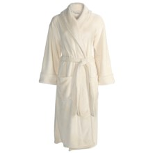 Bellora Hospitality Pearlon Wrap Robe (For Women) in Eggshell - Closeouts