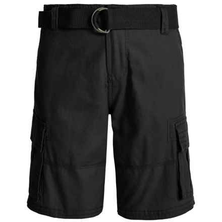Belted Cargo Shorts (For Little Boys) in Caviar - Closeouts