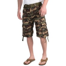 Belted Cargo Shorts (For Men) in Camo - 2nds
