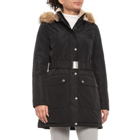 Image of Belted Parka - Sherpa-Lined Hood (For Women)