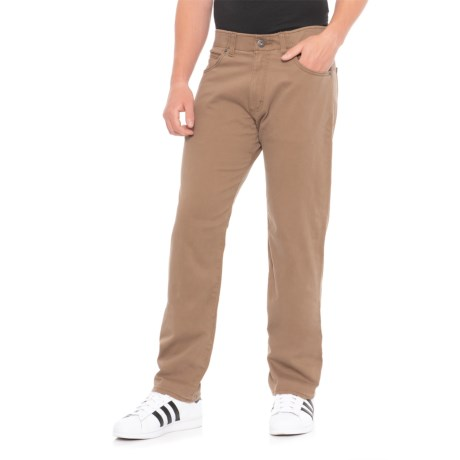 Ben Elias Industries Corp Solid Stretch Twill Pants (For Men) in Brown