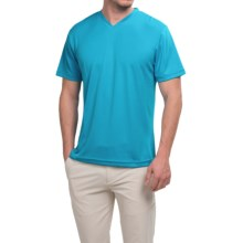 Ben Hogan Golf V-Neck Shirt - Short Sleeve (For Men) in Blue - Closeouts