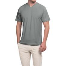 Ben Hogan Golf V-Neck Shirt - Short Sleeve (For Men) in Grey - Closeouts
