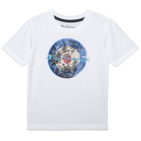 Ben Sherman Branded Graphic T-Shirt - Short Sleeve (For Big Boys) in White