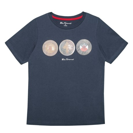 Ben Sherman Circle Graphic T-Shirt - Short Sleeve (For Big Boys) in Navy