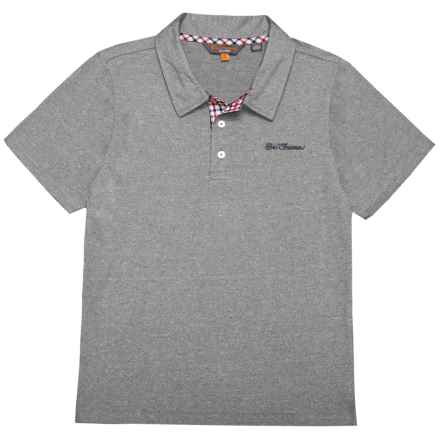 Ben Sherman Polo Shirt - Short Sleeve (For Big Boys) in Grey - Closeouts
