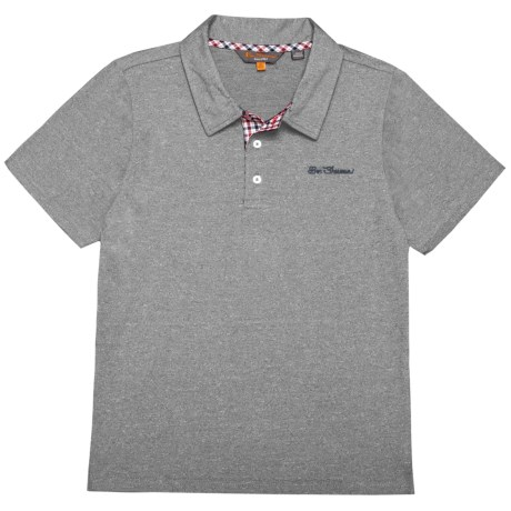 Ben Sherman Polo Shirt - Short Sleeve (For Big Boys) in Grey