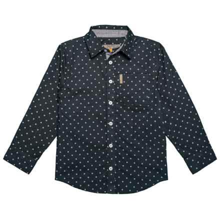 Ben Sherman Woven Shirt - Long Sleeve (For Little Boys) in Black - Closeouts