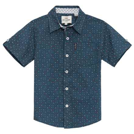 Ben Sherman Woven Shirt - Short Sleeve (For Little Boys) in Blue - Closeouts