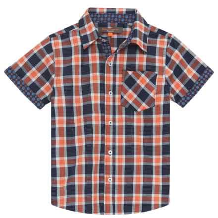 Ben Sherman Woven Shirt - Short Sleeve (For Little Boys) in Orange - Closeouts