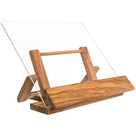 "Berard Olive Wood Tablet and Cookbook Holder - 12x11"" in Natural"