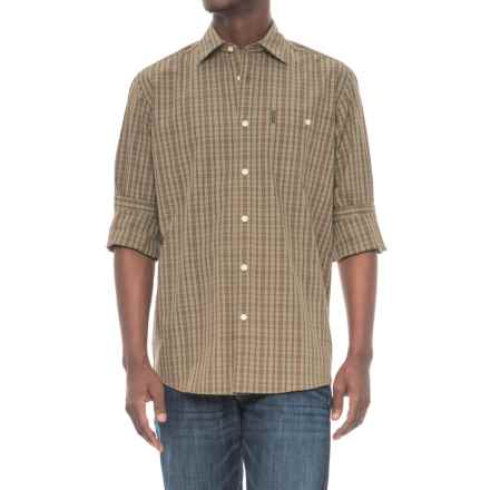 Beretta Classic Drip-Dry Shirt - Long Sleeve (For Men) in Green/Brown Check - Overstock