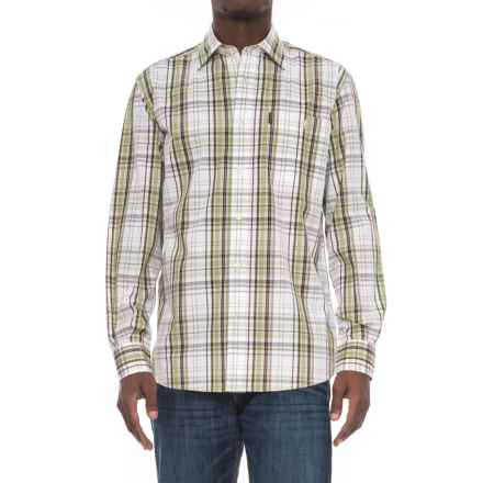 Beretta Classic Drip-Dry Shirt - Long Sleeve (For Men) in White/Green Check - Overstock