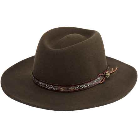 Beretta Crushable Feather-Band Hat - Felted Wool (For Men) in Brown - Closeouts