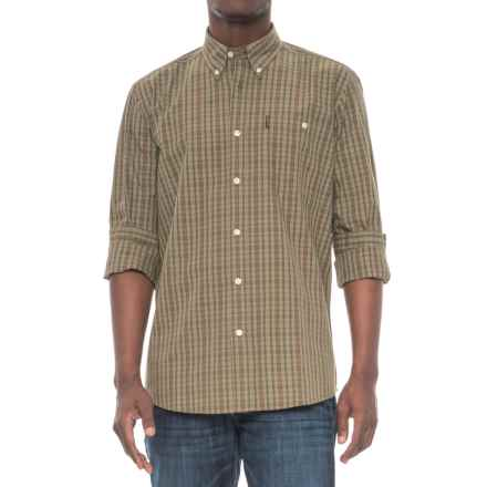 Beretta Drip-Dry Shirt - Long Sleeve (For Men) in Green/Brown Check - Overstock