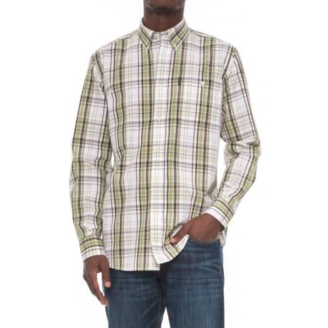Beretta Drip-Dry Shirt - Long Sleeve (For Men) in White/Green Check