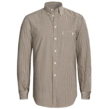 Beretta Rob Cotton Shirt - Long Sleeve (For Men) in 88 Brown Check - Closeouts