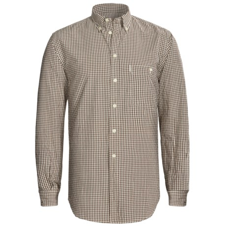 Beretta Rob Cotton Shirt - Long Sleeve (For Men) in 88 Brown Check