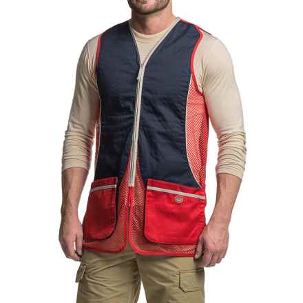 Beretta Silver Pigeon Shooting Vest (For Men and Big Men) in Red/Blue - Closeouts