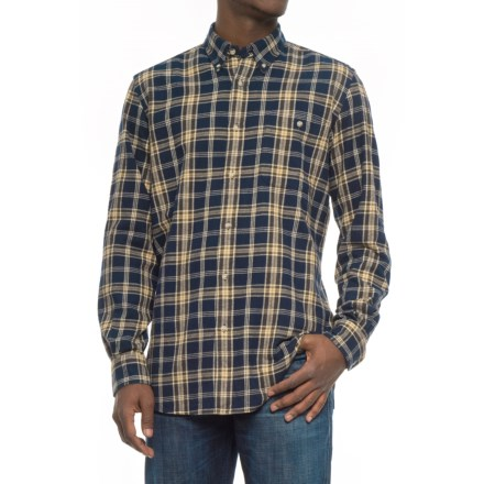 Beretta Sport Flannel Shirt - Long Sleeve (For Men) in Light Blue Brown 6ef3085b7