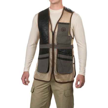 Beretta Two-Tone Clays Vest (For Men) in Loden/Khaki - Closeouts