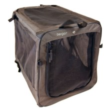 Bergan Dog Travel Crate - Extra Large in Black/Tan - Closeouts