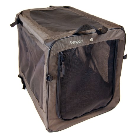Bergan Dog Travel Crate - Extra Large in Black/Tan