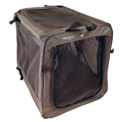 Bergan Dog Travel Crate - Medium in Black/Tan