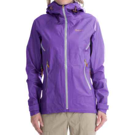 Bergans of Norway Airojohka Jacket - Waterproof (For Women) in Funky Purple/Aluminum/Pumpkin - Closeouts