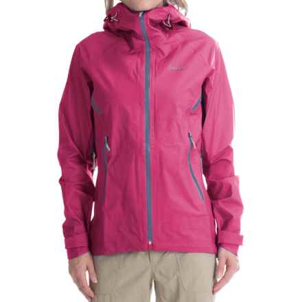 Bergans of Norway Airojohka Jacket - Waterproof (For Women) in Hot Pink/Dusty Blue/Aluminum - Closeouts