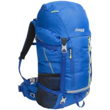 Bergans of Norway Birkebeiner Jr. 40L Backpack - Internal Frame (For Big Kids) in Cobalt Blue/Neon Green - Closeouts