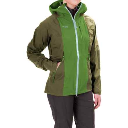 Bergans of Norway Cecilie Ripstop Jacket - Waterproof (For Women) in Forest/Deep Moss/Ice - Closeouts