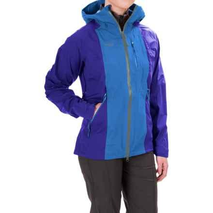 Bergans of Norway Cecilie Ripstop Jacket - Waterproof (For Women) in Winter Sky/Ink Blue/ Deep Moss - Closeouts