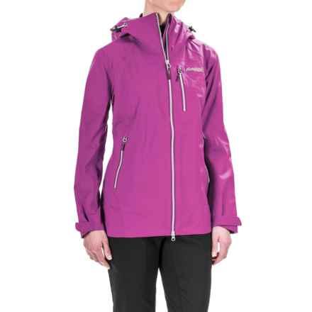 Bergans of Norway Eidfjord Jacket - Waterproof (For Women) in Pink Rose/White/Plum - Closeouts