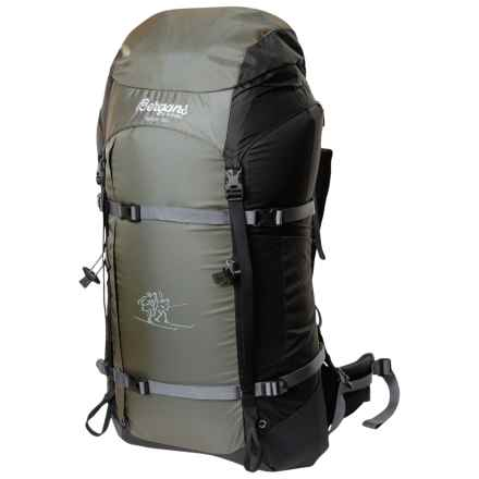 Bergans of Norway Helium 55L Backpack in Pale Olive/Black - Closeouts