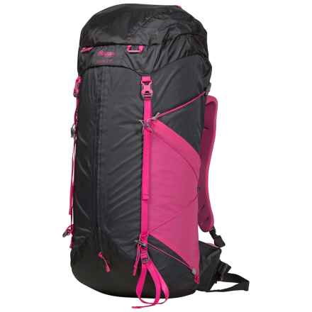 Bergans of Norway Helium W Hiking Backpack - 55L (For Women) in Solid Charcoal/Hot Pink - Closeouts