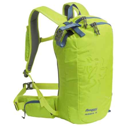 Bergans of Norway Hodlekve Ski Backpack - 15L in Neon Green/Dusty Blue - Closeouts