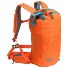 Bergans of Norway Hodlekve Ski Backpack - 15L in Neon Orange/Bright Sea Blue - Closeouts