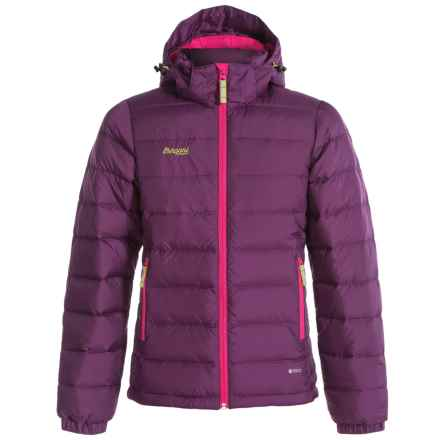 Bergans of Norway Hooded Down Jacket - 550 Fill Power (For Big Girls) in Plum/Hot Pink - Closeouts