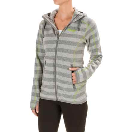 Bergans of Norway Humle Jacket (For Women) in Grey Striped/Lime - Closeouts